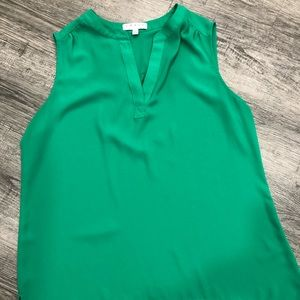 Chaus green sleeveless top